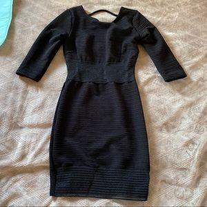 Privately Privileged Bodycon Little Black Dress
